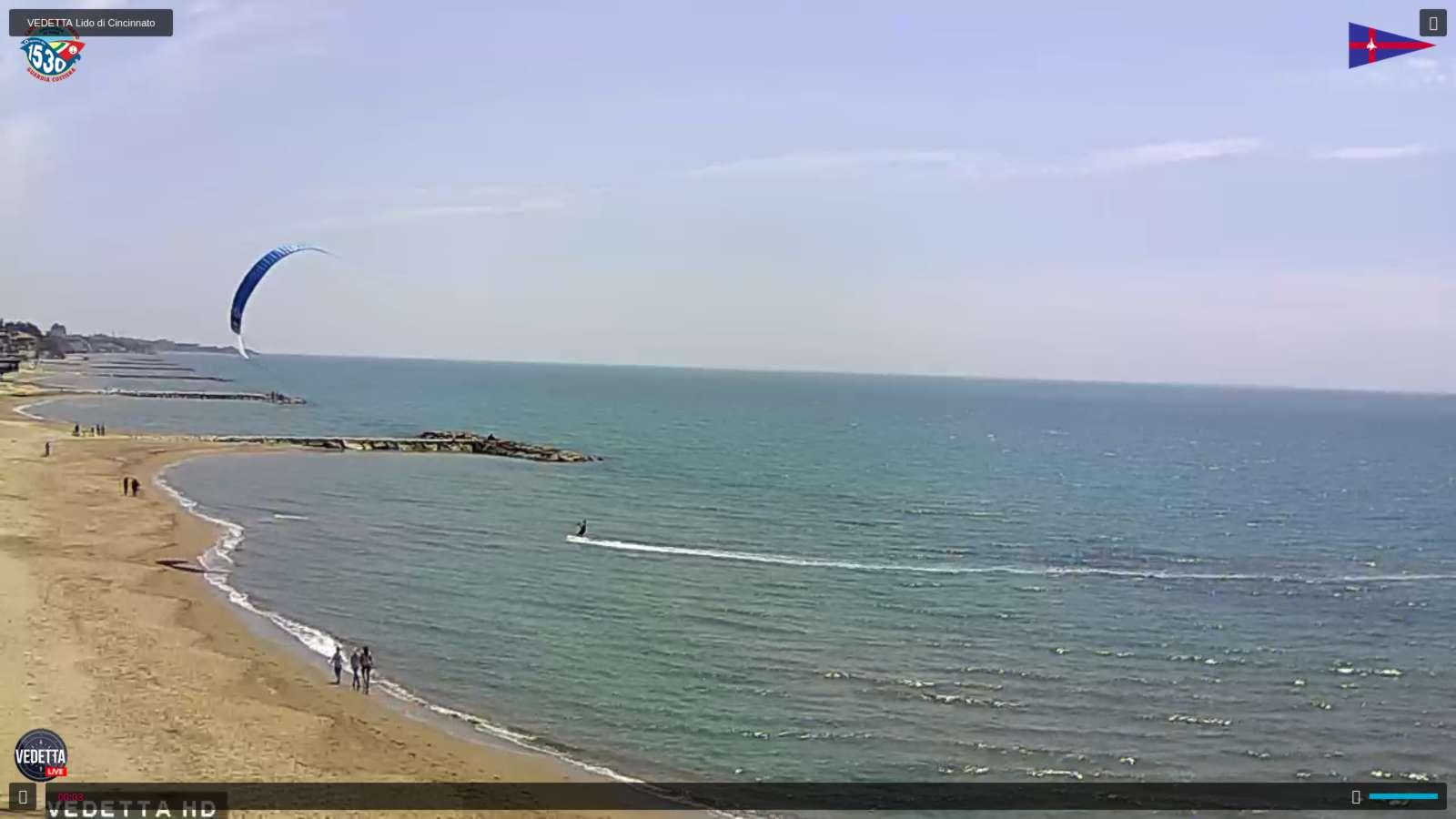 Residence Elianto WEBCAM-Anzio Spiaggia di Tor Caldara e Cincinnato