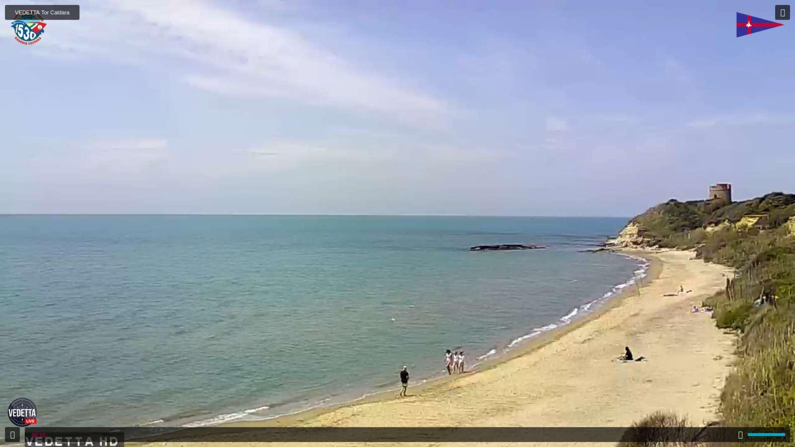 elianto Anzio webcam torre Caldara